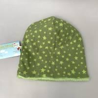 Kinder-Winter-Mütze, Long-Beanie mit Sternen, warme Wendebeanie, Jersey mit Fleece gefüttert, Gr 53/54/55/56/57cm  Bild 3