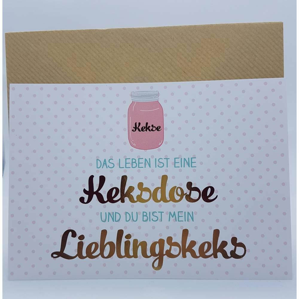 Postkarte - Liebingskeks Bild 1