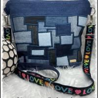 Sportlich Handtasche - Jede Tasche ein Unikat, teilweise Upsycling Bild 1