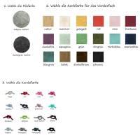 Handyhülle zum Umhängen Handytasche aus Merino Wollfilz Filz Kork Farb- und Größenauswahl Bild 3