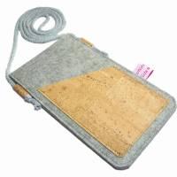 Handyhülle zum Umhängen Handytasche aus Merino Wollfilz Filz Kork Farb- und Größenauswahl Bild 5