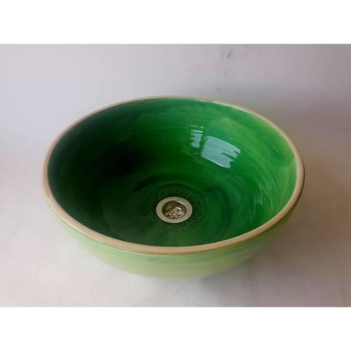 Waschbecken / Grün-Limette  Ø 29 cm Höhe 13,5 cm