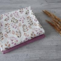 Stoffpaket Jersey Blätter / aubergine altmauve 2 x 50cm VB Bild 2