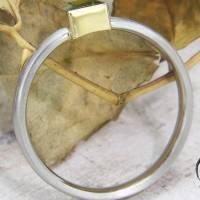 Schmaler Ring aus Platin mit grünem Turmalin Bild 6