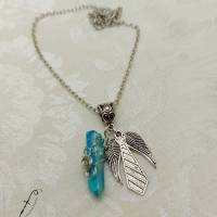 """Supernatural """"Castiel's Grace #2"""" Halskette Modeschmuck mit gefärbtem Quarzkristall Bild 2"""