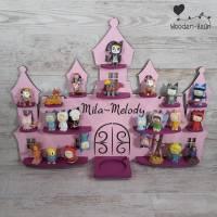 Musikboxregal ,, Schloss  '' personalisiert mit Namen nach Farbwunsch für Toniebox Regal mit Magnetband Prinzess Bild 1