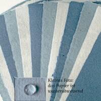 12 Blatt handgeschöpftes Papier, hellblau, ca. 21 cm x 29,5 cm, Künstlerpapier, Schreibpapier, Bastelpapier Bild 1
