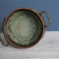 Vintage Übertopf Kupfer mit Griffen Bild 4