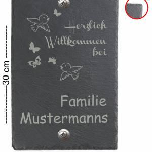 Türschild 20x30cm XXL Namensschild Klingelschild für Ihr Heim Schiefer mit Wunschgravur versch. Modelle Bild 3