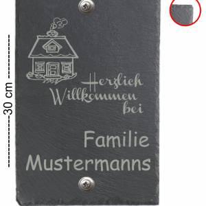 Türschild 20x30cm XXL Namensschild Klingelschild für Ihr Heim Schiefer mit Wunschgravur versch. Modelle Bild 4