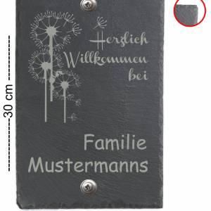 Türschild 20x30cm XXL Namensschild Klingelschild für Ihr Heim Schiefer mit Wunschgravur versch. Modelle Bild 5