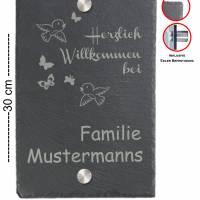 Türschild 20x30cm XXL Namensschild Klingelschild für Ihr Heim Schiefer mit Wunschgravur versch. Modelle Bild 7