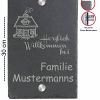 Türschild 20x30cm XXL Namensschild Klingelschild für Ihr Heim Schiefer mit Wunschgravur versch. Modelle Bild 8