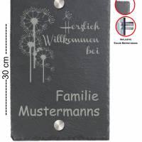 Türschild 20x30cm XXL Namensschild Klingelschild für Ihr Heim Schiefer mit Wunschgravur versch. Modelle Bild 9