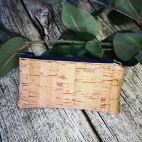 Schlüsseletui Schlüsseltasche Mini-Täschchen im Kork-Look Bild 1