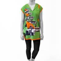 LANGE TUNIKA kurzes bedrucktes Kleid Bilder 1920er-1940er Jahre Bild 1