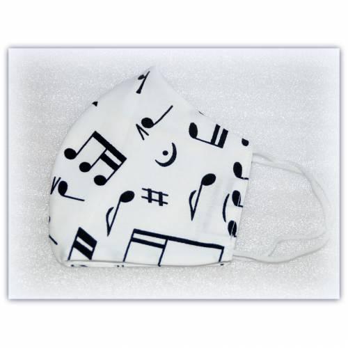 Maske Musiknoten Gr. M, Behelfsmaske für Frau und Mann