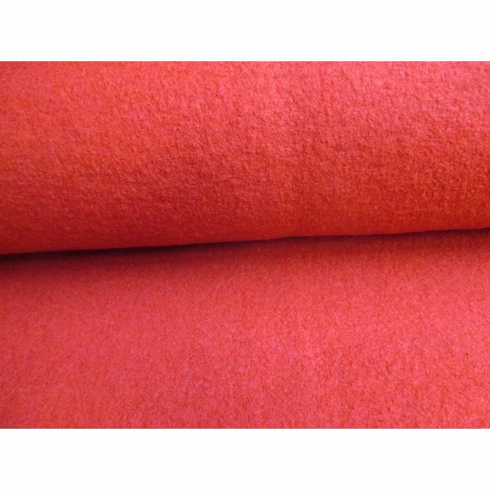 Walkloden Loden Walk Tracht 100% Wolle rot(1m/20,-€ ) Bild 1