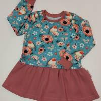 """Handmade Mädchenshirt Größe 104 mit Volant """"Rotkehlchen"""" Volantshirt Tunika Mädchen Gr104 Bild 1"""