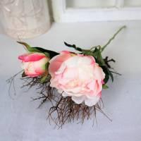 Pfingstrose rosa, Deko Blumen, Floristikbedarf Bild 2