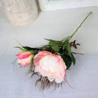 Pfingstrose rosa, Deko Blumen, Floristikbedarf Bild 3