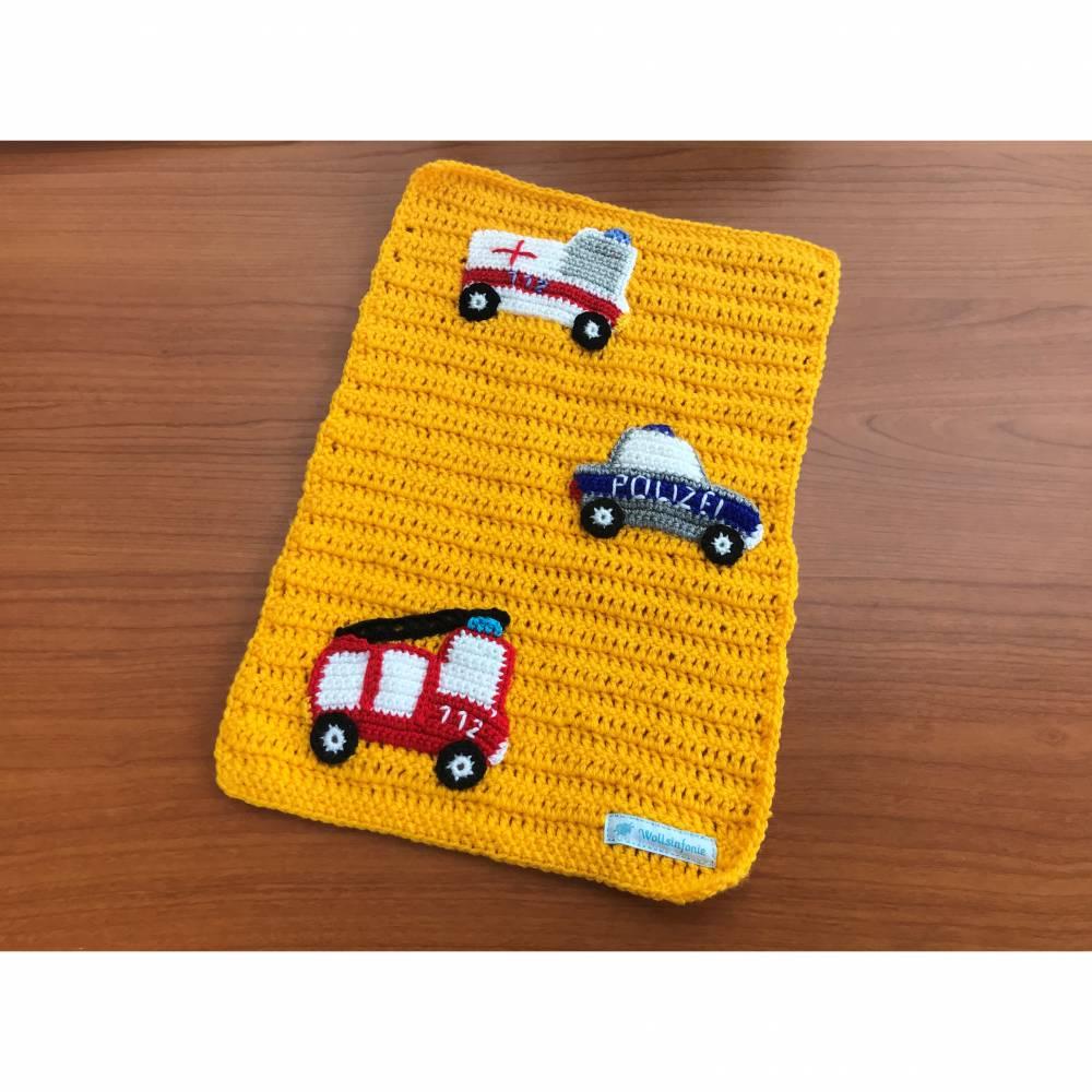 Puppenwagendecke, Spieldecke, Krabbeldecke Rettungsfahrzeuge für kleine Puppenwagen Bild 1