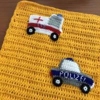 Puppenwagendecke, Spieldecke, Krabbeldecke Rettungsfahrzeuge für kleine Puppenwagen Bild 3