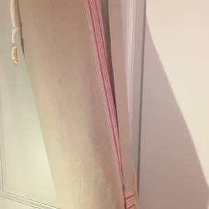 VINTAGE Mattentasche Yoga, LEINEN, Mangelleinen, für Matte 60 x 12 cm, gerollt Bild 1
