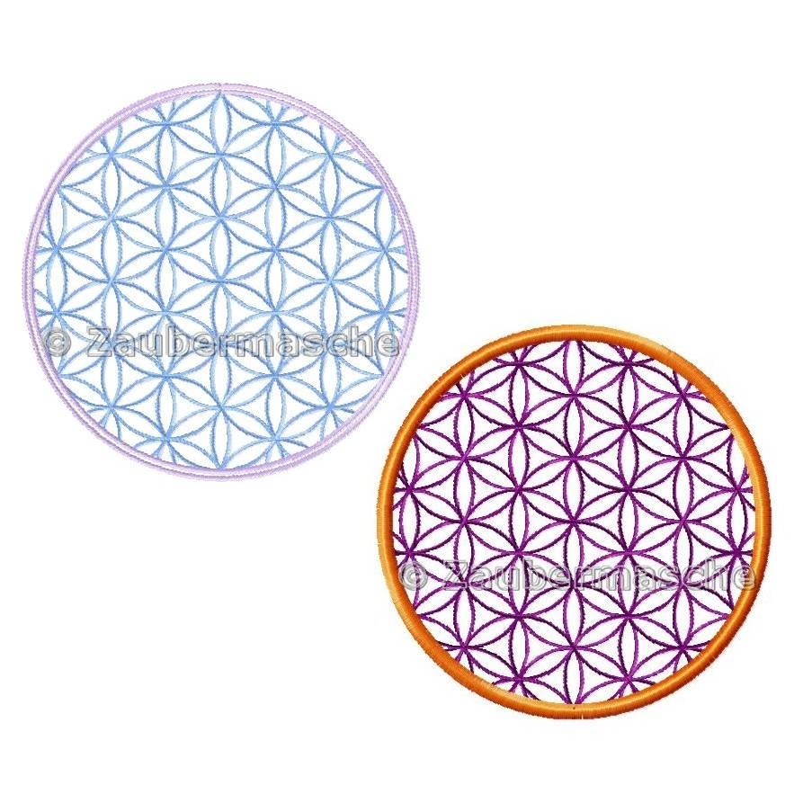 Blume des Lebens rund, Stickdateien für den 10x10-Rahmen Bild 1