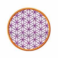 Blume des Lebens rund, Stickdateien für den 10x10-Rahmen Bild 3