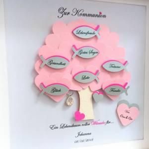 Geschenk Kommunion, Konfirmationsgeschenk, Mädchen, Patenkind, Lebensbaum, individuelles Geschenk,personalisiert Bild 3