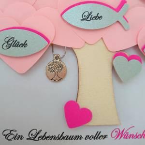Geschenk Kommunion, Konfirmationsgeschenk, Mädchen, Patenkind, Lebensbaum, individuelles Geschenk,personalisiert Bild 5