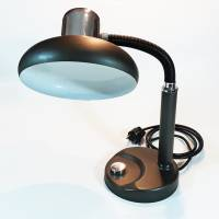 Vintage Schreibtischlampe / Lampe schwarz / chrom Bild 1
