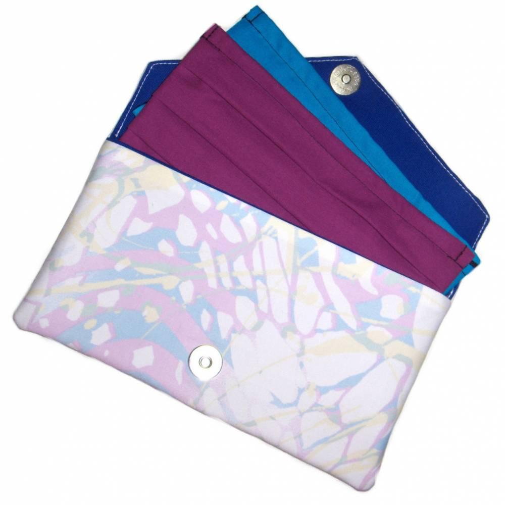 """Maskentasche """"Pastell"""" aus Baumwolle mit Magnetverschluss - Täschchen Etui Tasche Kosmetiktasche Kulturtasche Bild 1"""