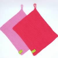 Spültücher, Spüllappen gehäkelt 100%Baumwolle, Wunschfarbe  Bild 3