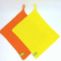 Spültücher, Spüllappen gehäkelt 100%Baumwolle, Wunschfarbe  Bild 5