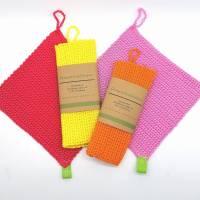 Spültücher, Spüllappen gehäkelt 100%Baumwolle, Wunschfarbe  Bild 8