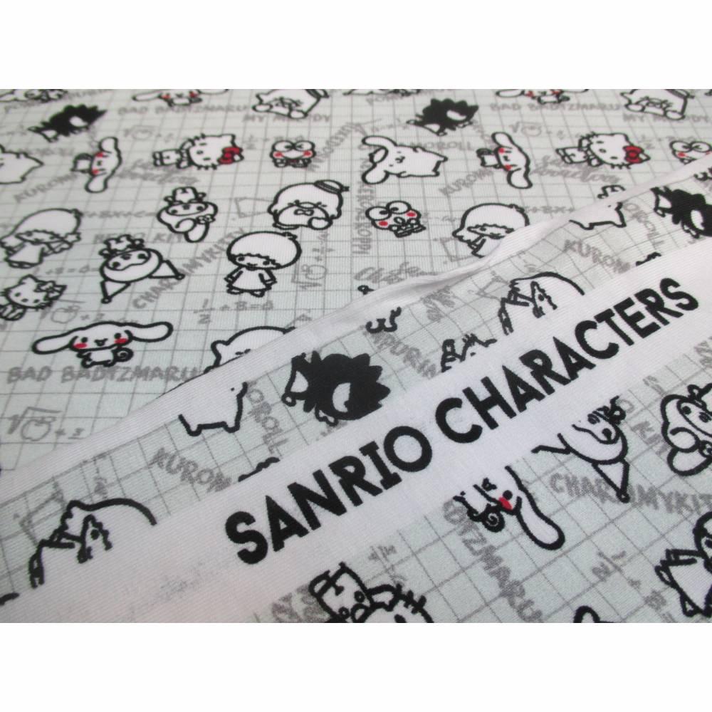 BIO - Jersey  Baumwolljersey ,Hello Kitty hellgrau Organic Cotton (1m/10,-€) Bild 1
