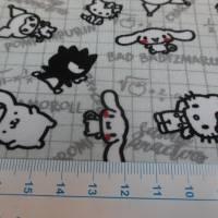 BIO - Jersey  Baumwolljersey ,Hello Kitty hellgrau Organic Cotton (1m/10,-€) Bild 3