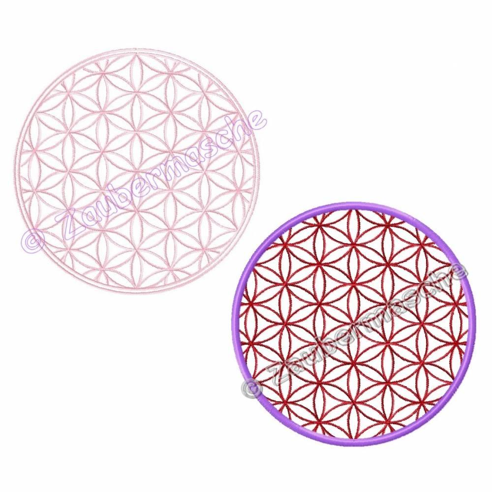Blume des Lebens rund, Stickdateien für den 13x18-Rahmen Bild 1