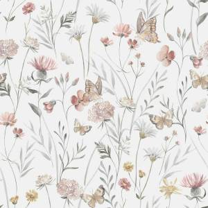 ab 50cm Jersey Summer Field Watercolor - Sommerwiese Aquarell Druckstoff Bild 1