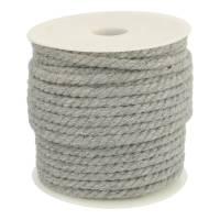 weiche Kordel hellgrau 6mm für Hoodies aus Baumwolle Bild 1
