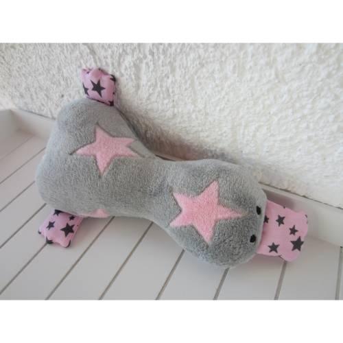 XL Kuscheltier Ente - grau rosa - absolut kuschelig