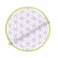 Blume des Lebens 6 Eck, Stickdateien für den 13x18-Rahmen Bild 2