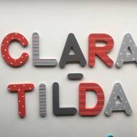 Holzbuchstaben Türbuchstaben 6,5 cm oder 8 cm  wooden letters Buchstaben Kinderzimmertür Bild 1