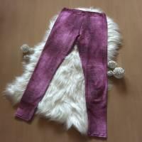 Damenlegging * Gr.38 * Jeansoptik in lila Bild 2
