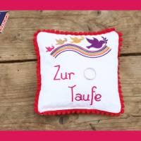 Regenbogen & Taube-Button Stickdateien für den 10x10-Rahmen Bild 5