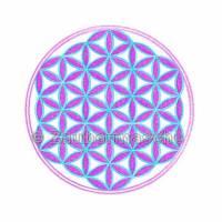 Blume des Lebens 6 Eck gestickt, Stickdateien für den 10x10-Rahmen Bild 2