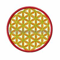 Blume des Lebens 6 Eck gestickt, Stickdateien für den 10x10-Rahmen Bild 3