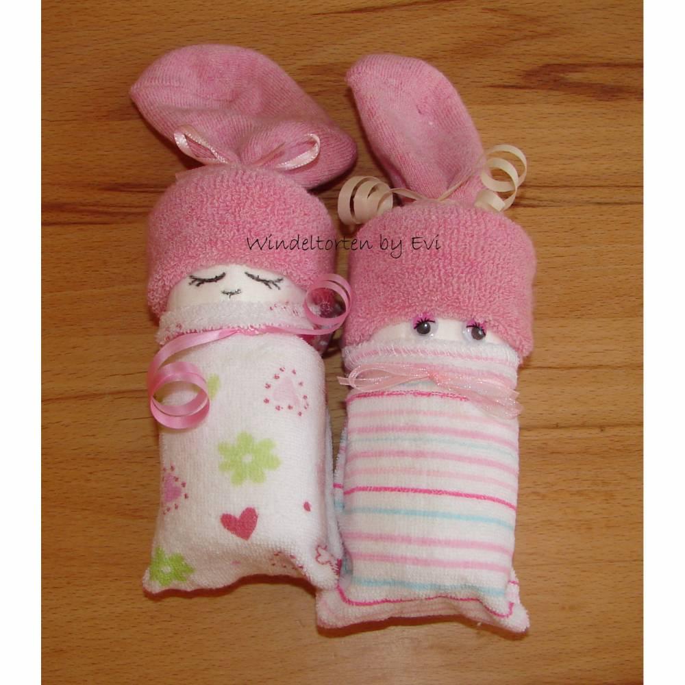 Windelbabys für Mädchen, Zugabe zu Geldgeschenk für ein neugeborenes Baby Bild 1